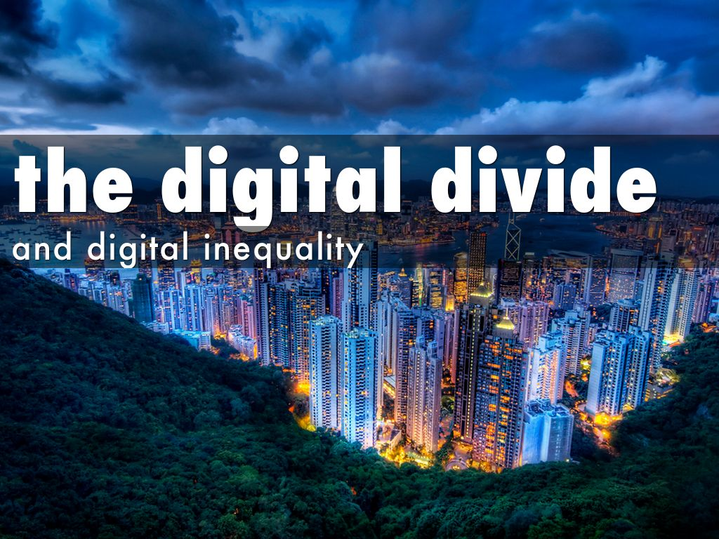 the digital divide and digital inequality by cindy