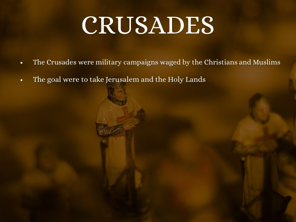 crusades and holy land essay example The crusades essay sample the crusades took place in the middle east between 1095 and 1291 they were used to gain a leg up on trading, have more land to show hegemony, and to please the gods.