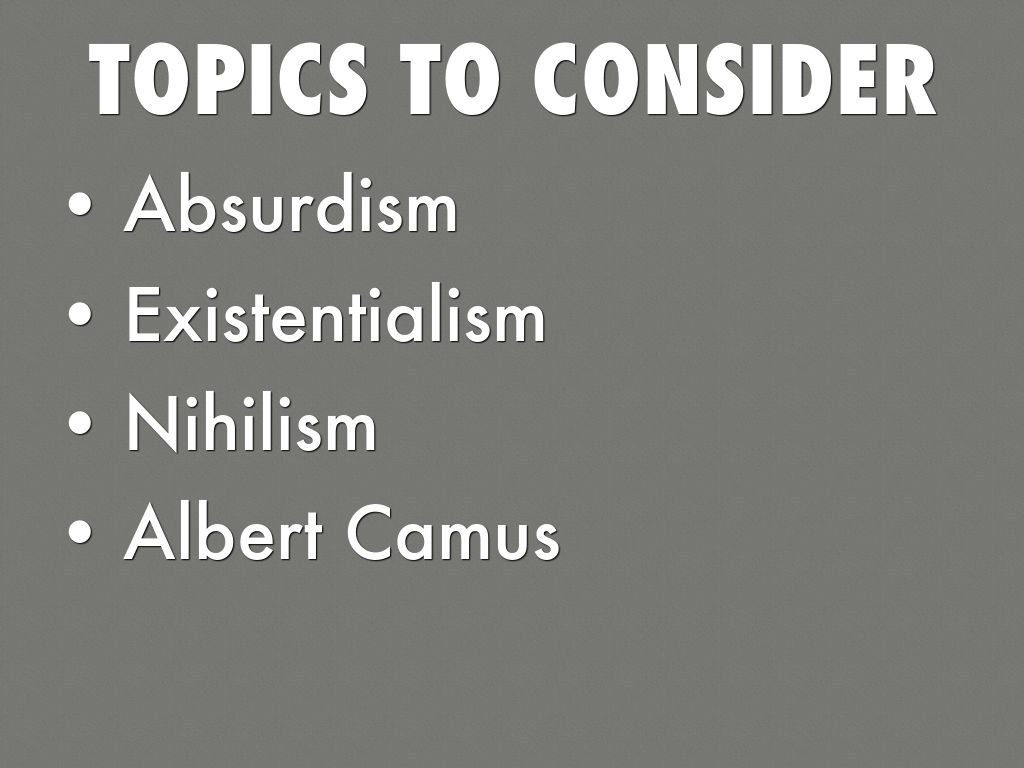 absurdism vs existentialism