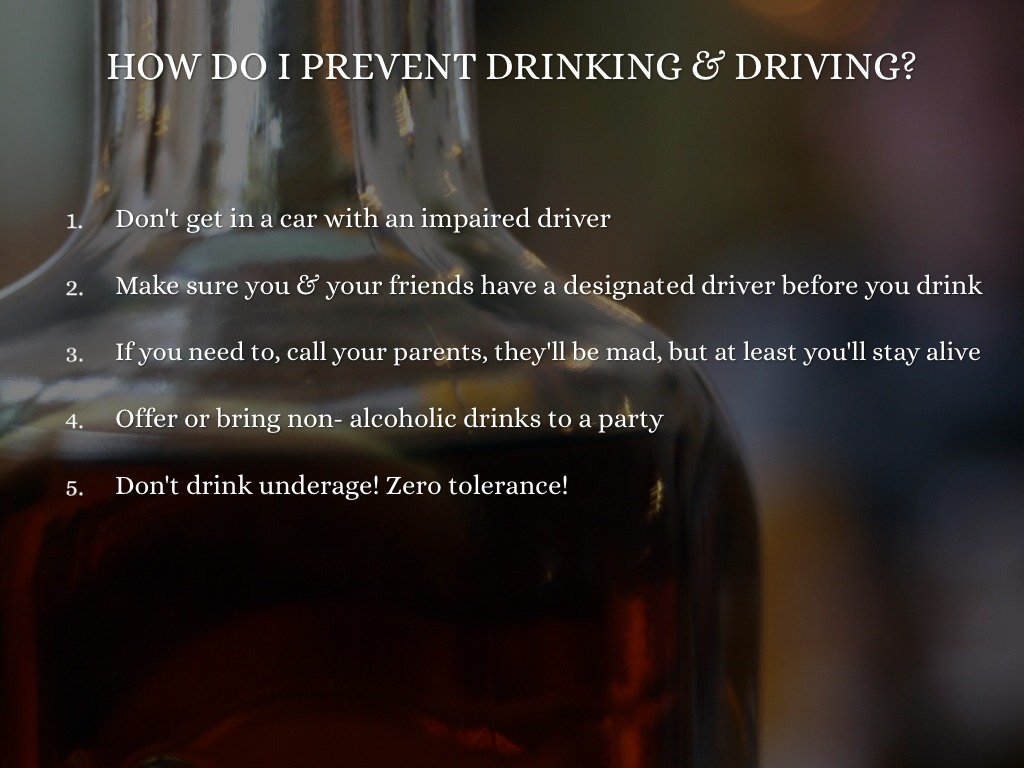 drinking driving parties and commonsensical solutions