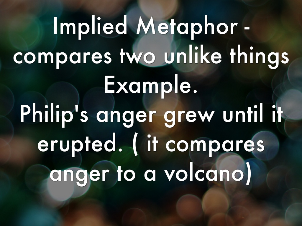 Implied Metaphor Examples In Poetry Choice Image Example Cover