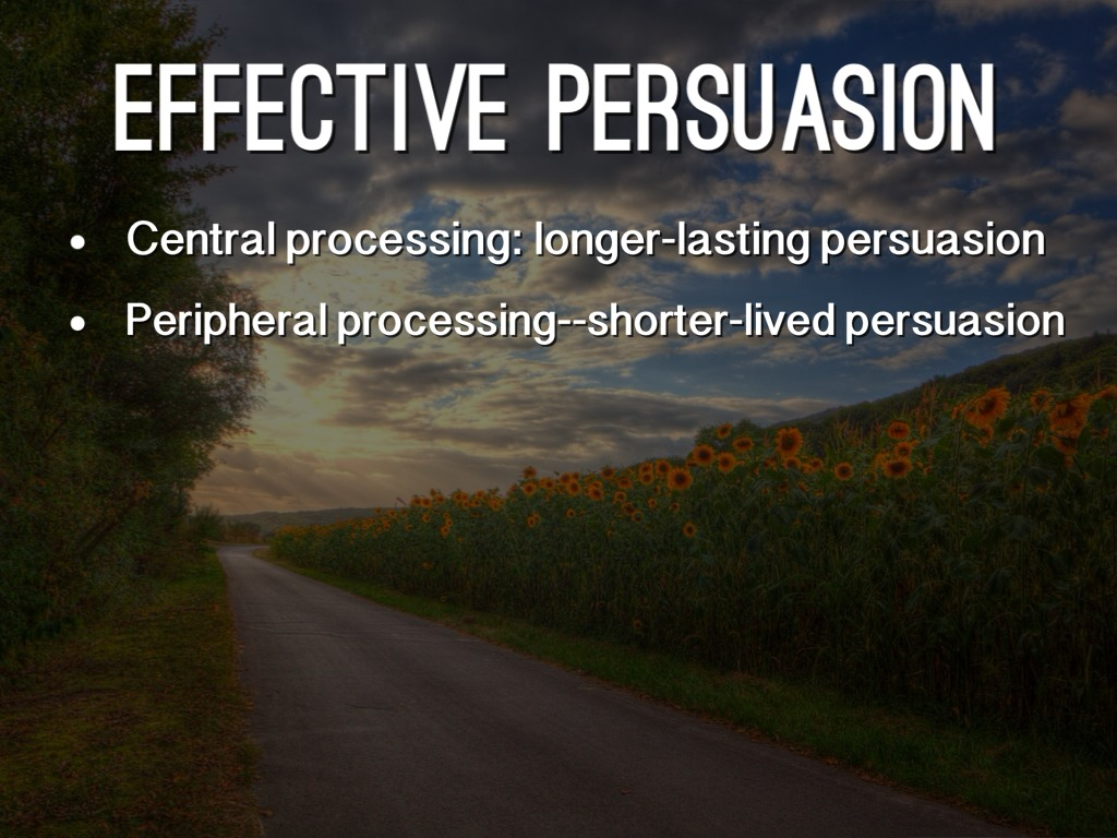 a description of the concept of persuasion and the two basic routes to persuasion In the large body of literature devoted to persuasion, perhaps no model is more basic and fundamental description of a state of nature and outputs a signal to techniques and concepts developed in the context of bayesian mechanism design (bmd).
