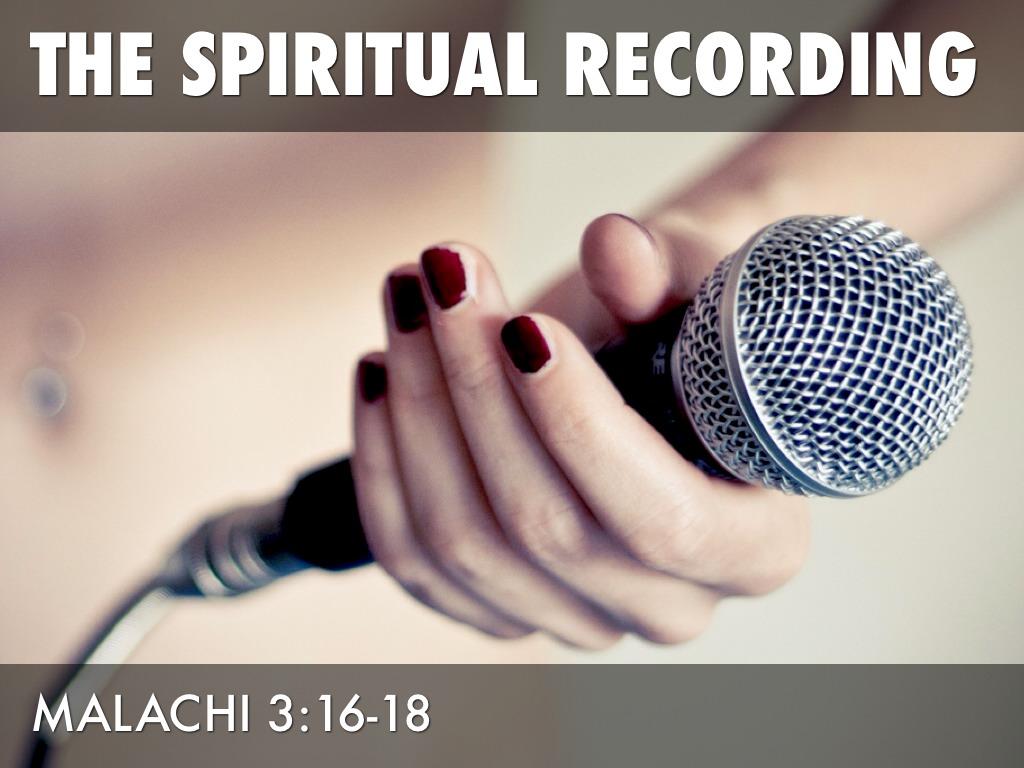 The Spiritual Recording