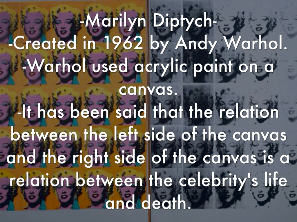 artist 2 andy warhol marilyn diptych 1962 essay Essay writing guide learn the art of brilliant essay writing with help from our teachers learn more.