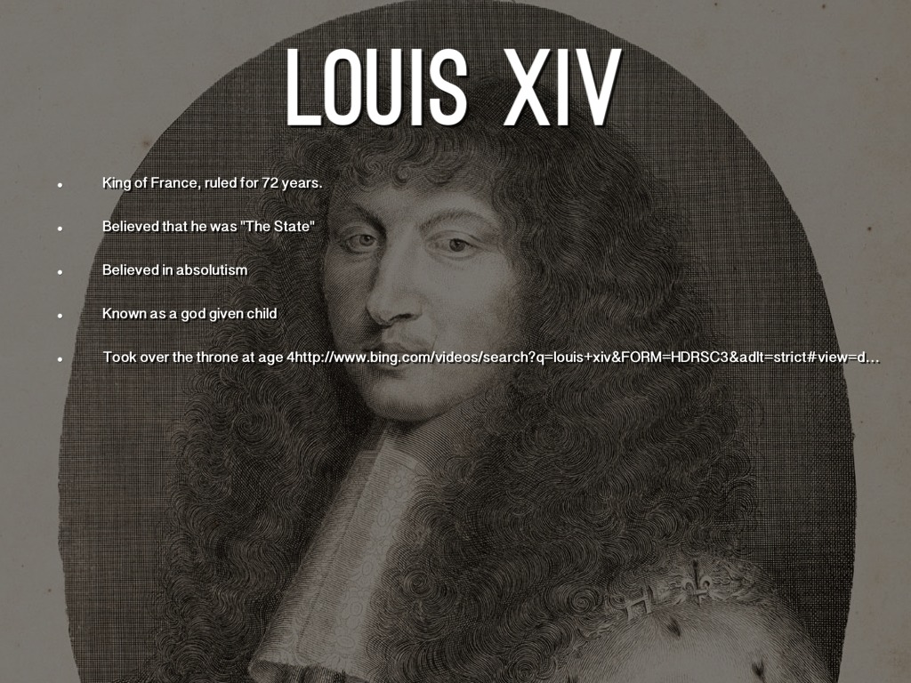 louis xiv absolute monarchist Louis xiv died in his palace of versailles on september 1, 1715 at once, couriers hurried with the news to all the provinces of the kingdom one of them reached franche-comté five days later.