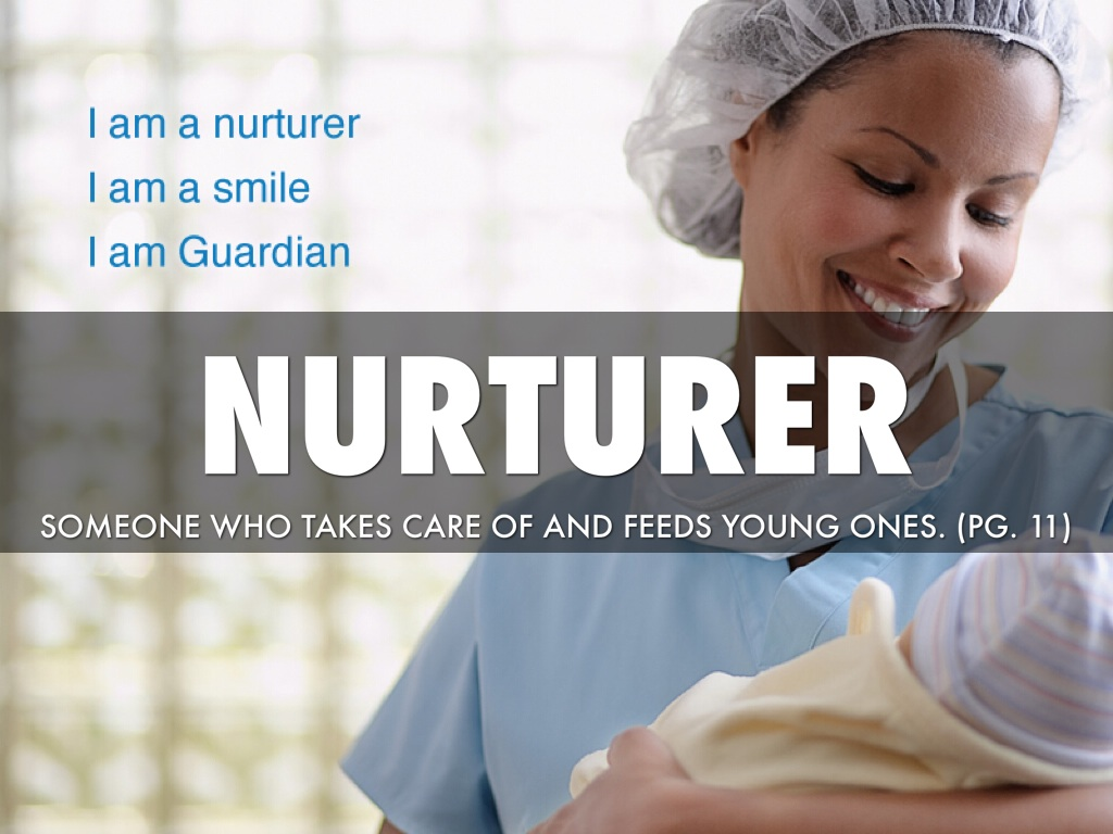 the nurturer Nur ure (nûr′chər) n 1 a the action of raising or caring for offspring: the nurture of an infant b biology the sum of environmental influences and conditions acting.