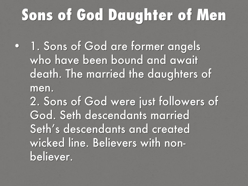 Who Were the Sons of God in Genesis 6?
