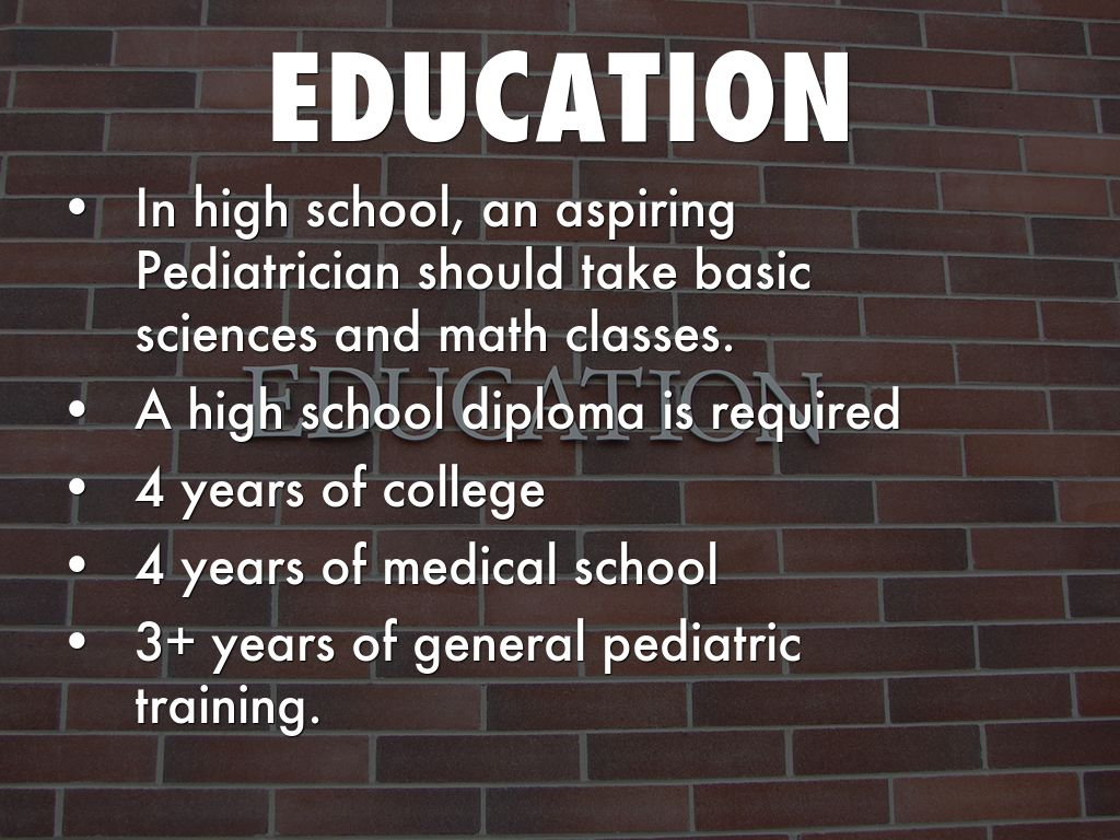 Pediatrician Education Requirements >> Pediatrician Required Education Best Education 2019