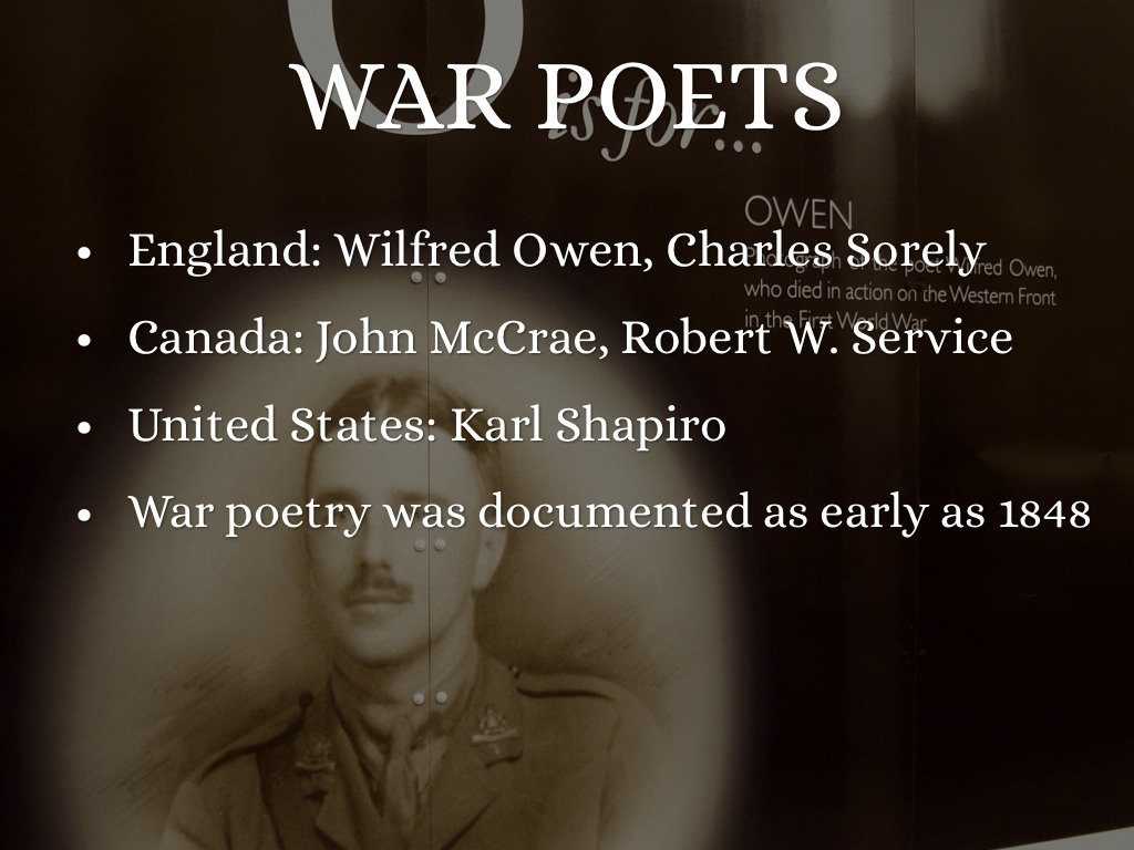 war poetry wilfred owen Ian mcmillan reads and analyses wilfred owen's poem dulce et decorum est, and asks: do we misunderstand ww1 because we focus on poems like owen's.