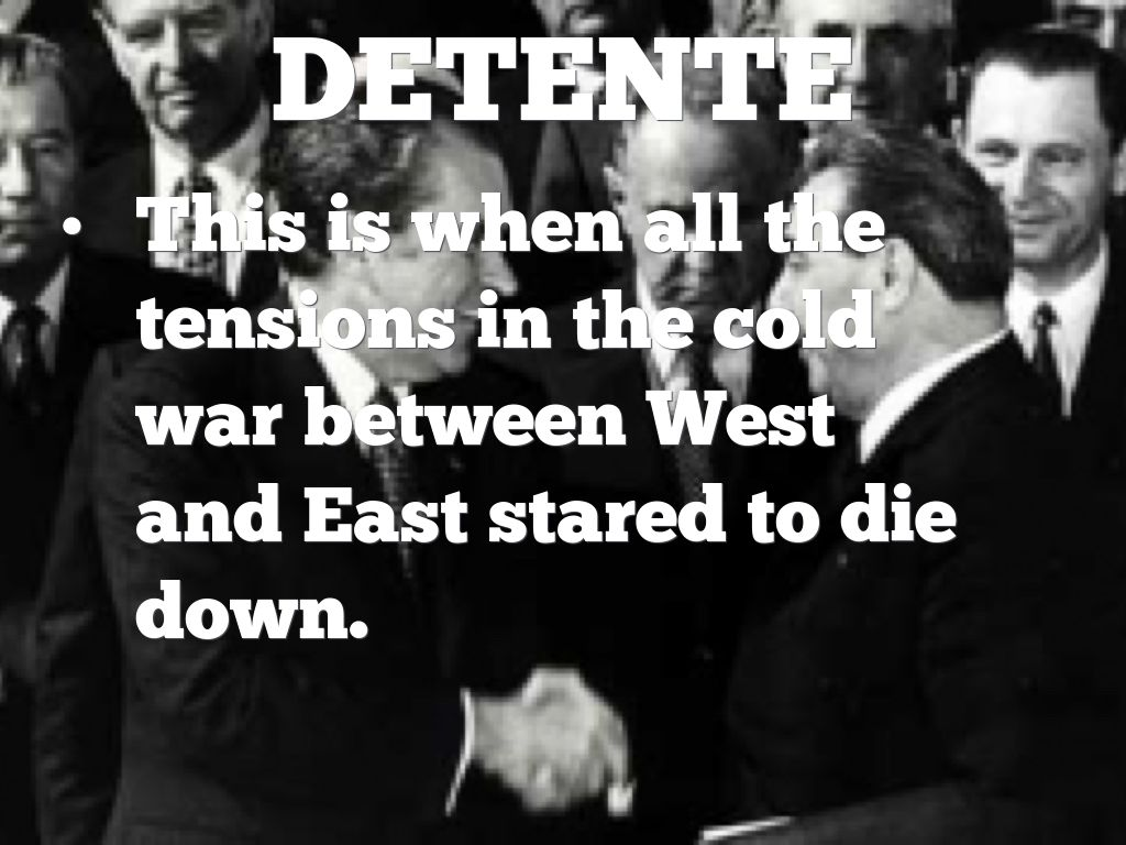 DETente  sc 1 st  Haiku Deck & The Cold War by Madison Ferrer