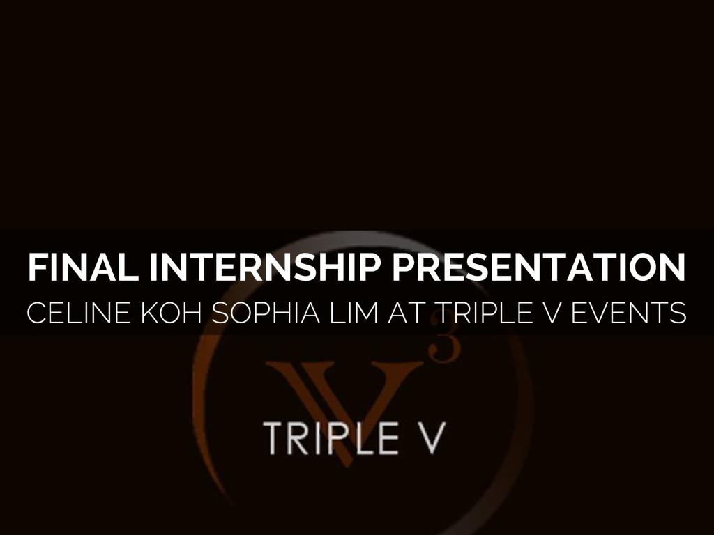 final internship presentation by sophia lim