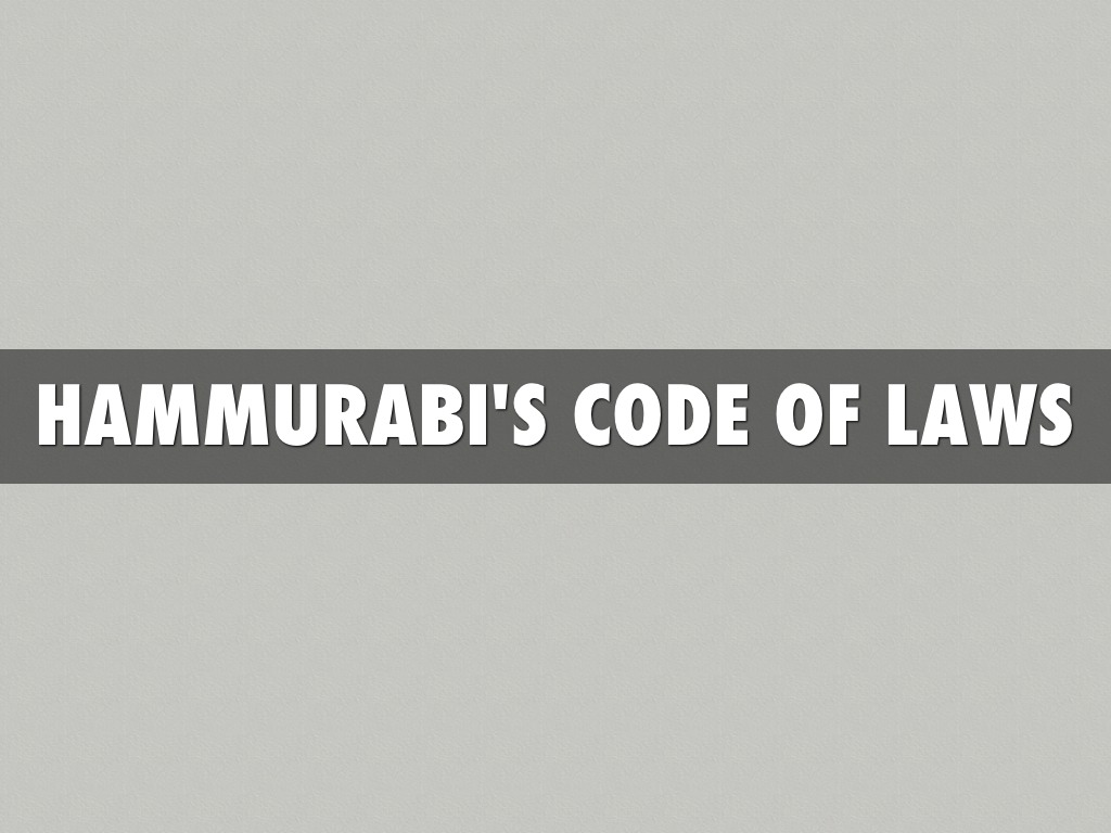 hammurabis code of laws Code of hammurabi definition, a babylonian legal code of the 18th century bc or  earlier, instituted by hammurabi and dealing with criminal and civil matters.