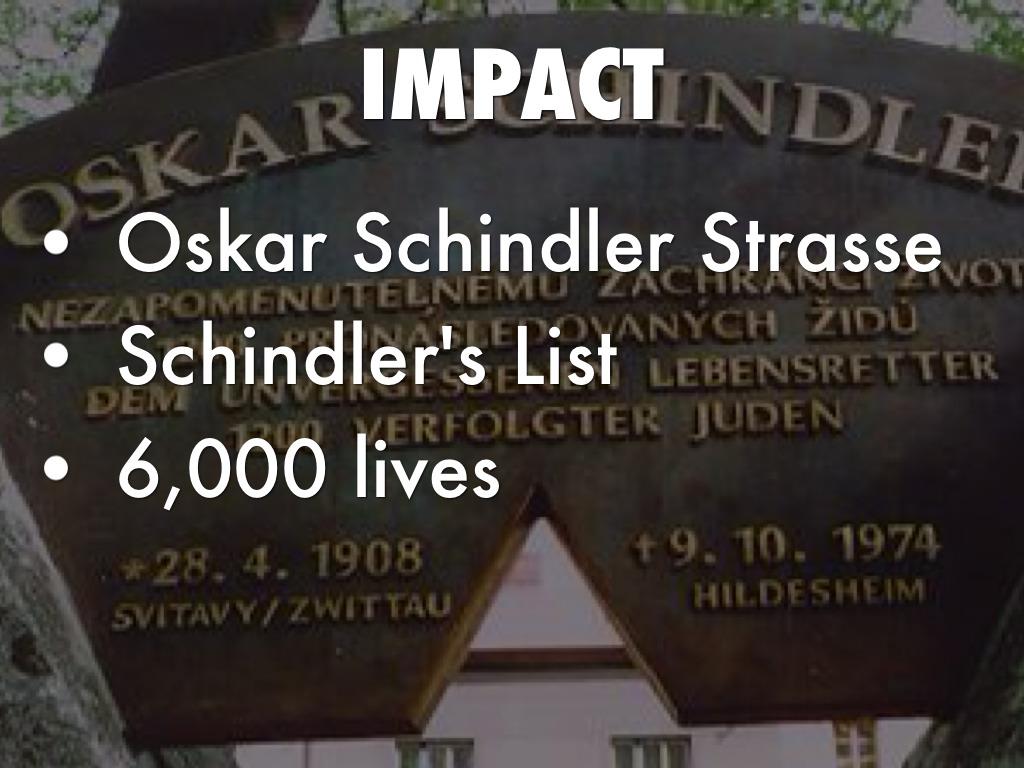oskar schindler by anna jecha impact schindler s list oskar