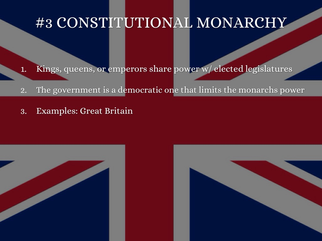 the three type of governments with great economic power The federal government of the united states was  apart from great britain, governments were not  in addition to distributing power among the three.