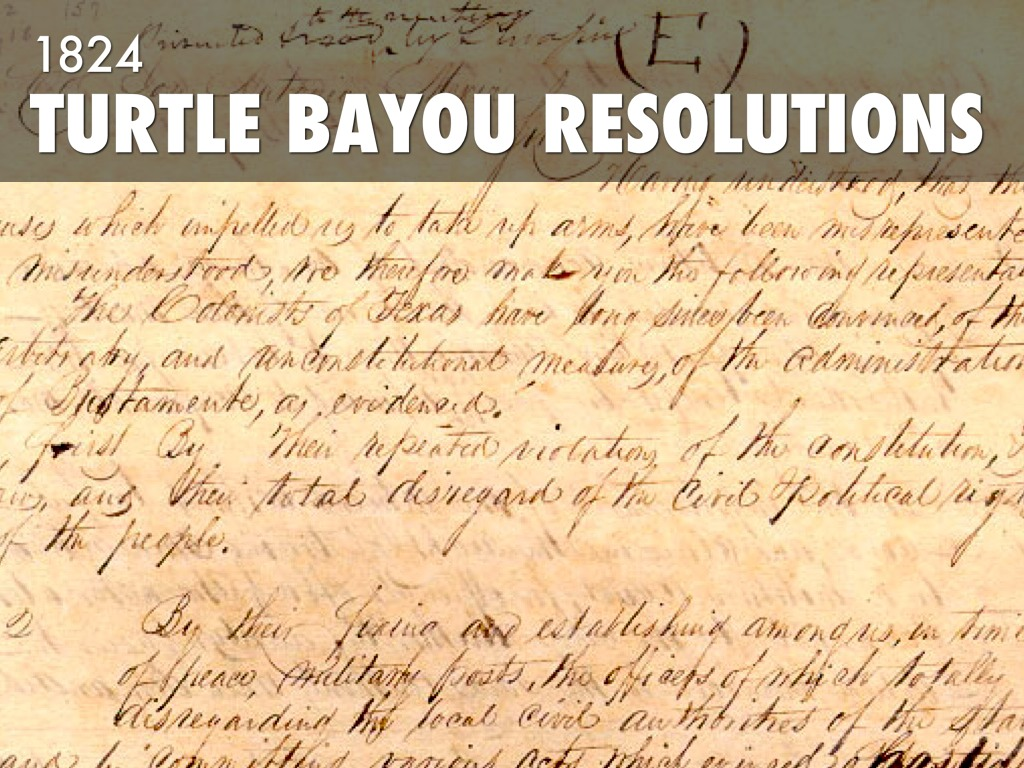 Events Leading To Texas Resolution By Victoria Trevino