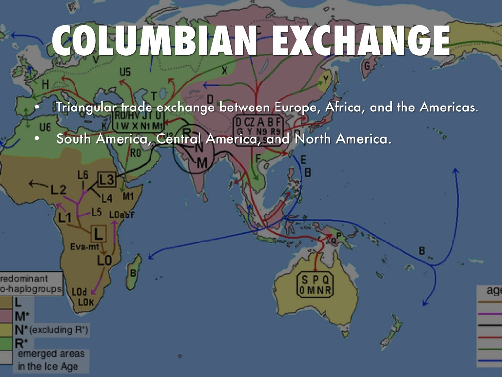 colombian exchange - the columbian exchange is a global exchange of goods and ideas between the old world (europe, asia and africa) and the new world (america) when columbus first discovered america, spain.