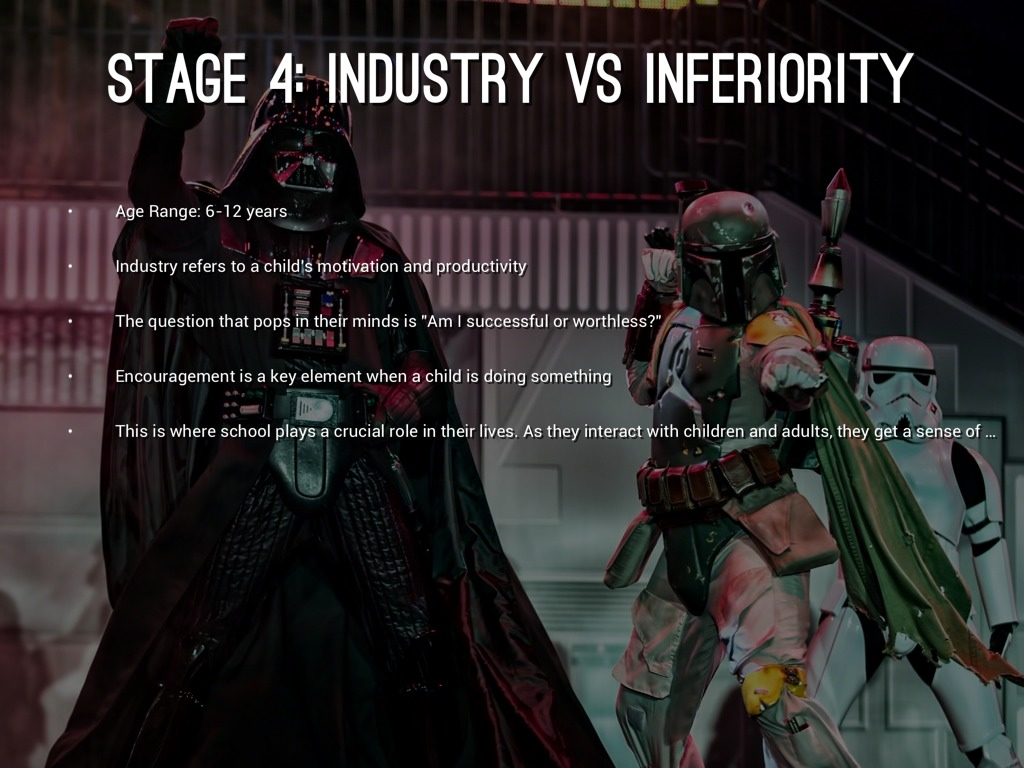 industry vs inferiority The industry versus inferiority theory was yet another theory introduced by erikson to describe the stages  erikson's industry versus inferiority.
