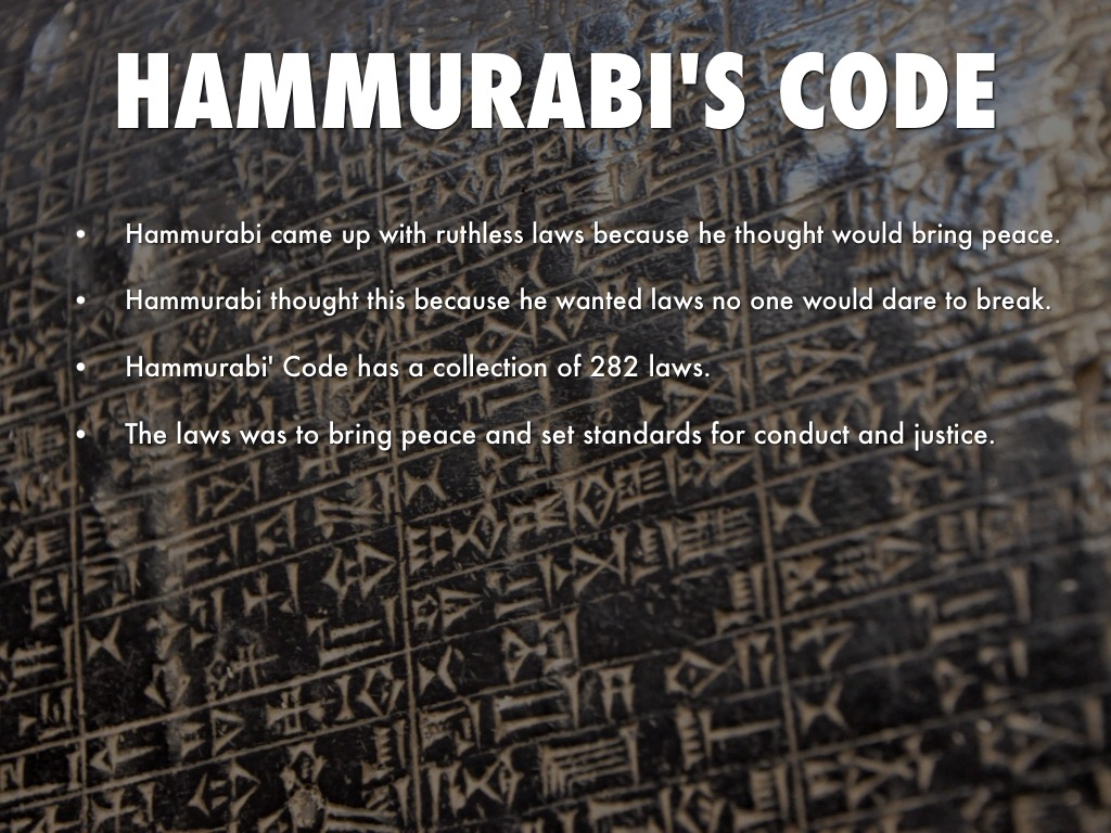 code of hammurabi Le code de hammurabi est rédigé durant la période dite « paléo-babylonienne » (babylonienne ancienne), sous la première dynastie de babylone, plus.