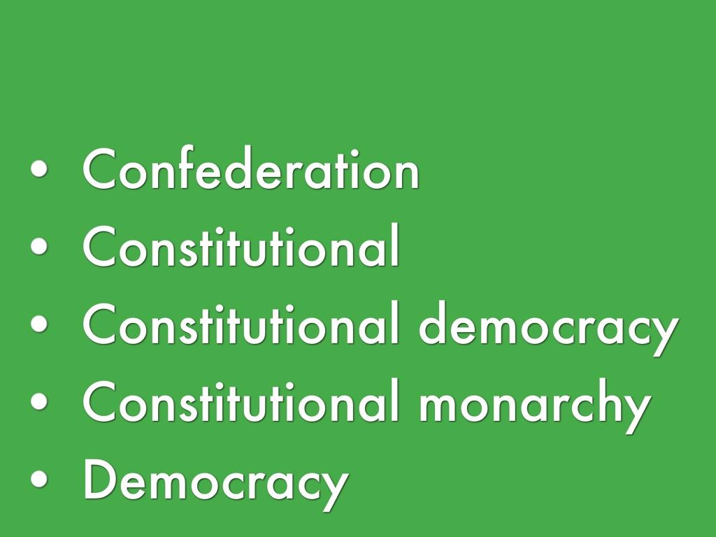 constitutional democracy