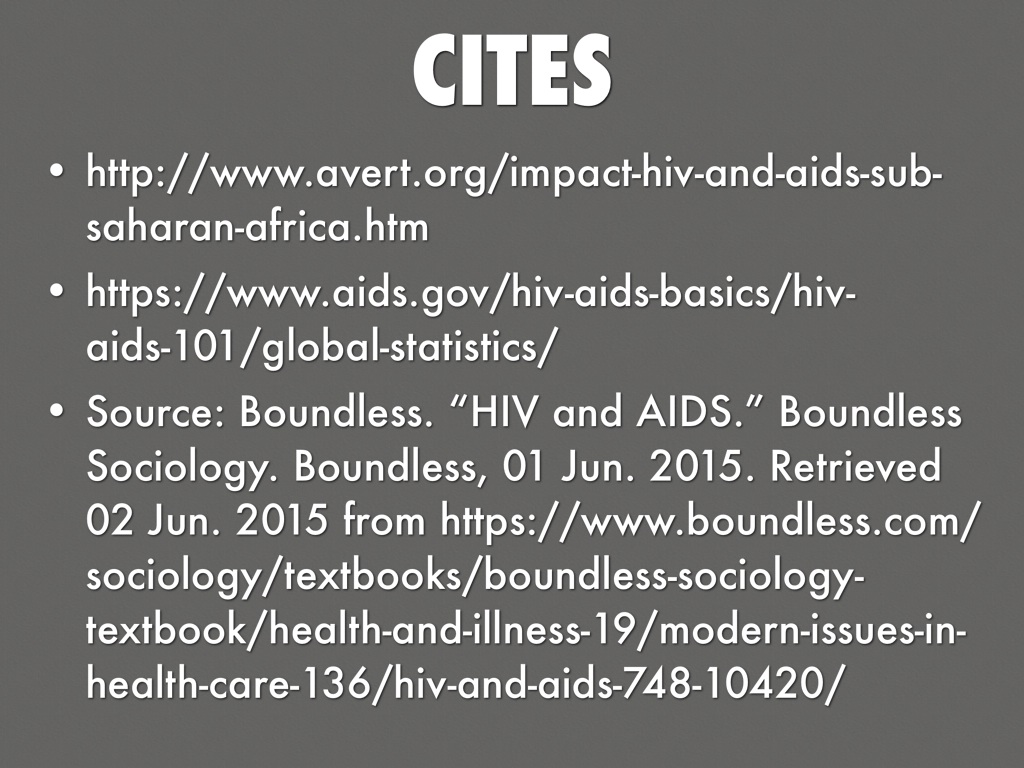 hiv and aids should have more attention in sub saharan africa