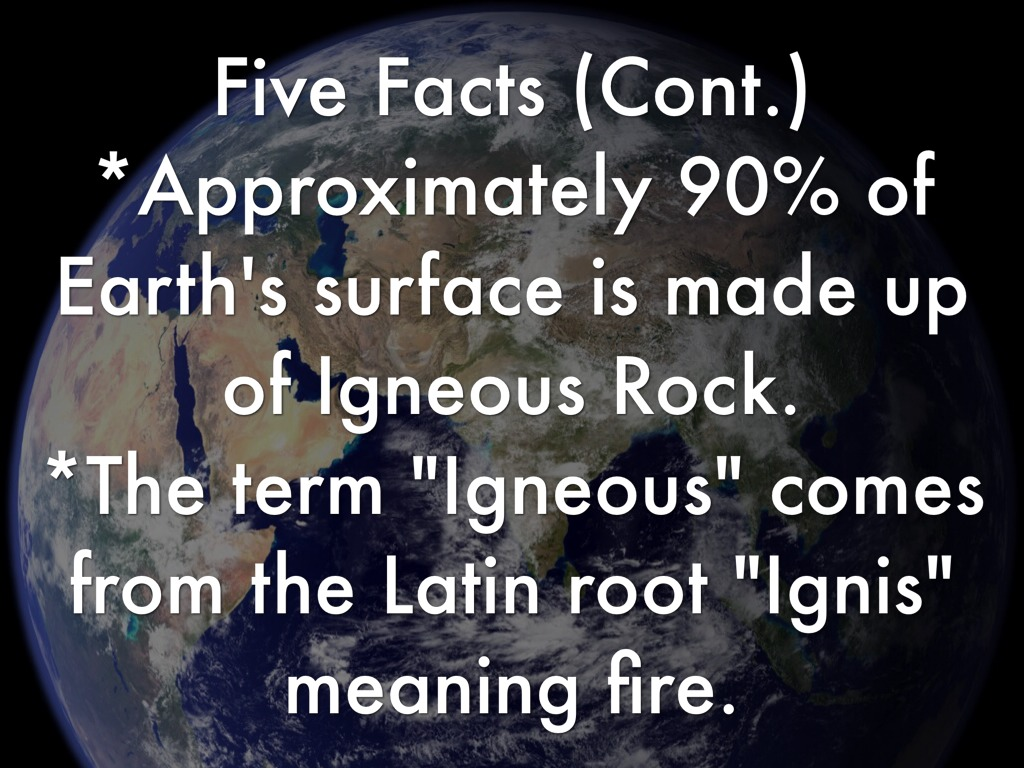 Facts About Igneous Rocks