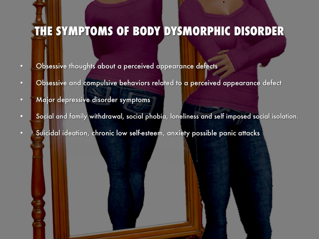 Image result for body dysmorphia symptoms
