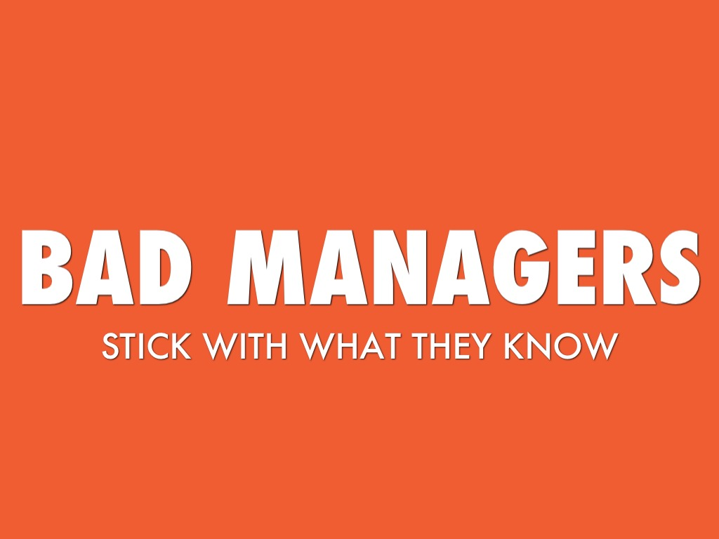 bad managers