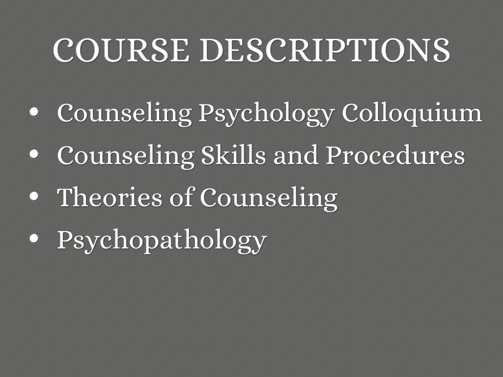 theories of psychological counselling The paper first examines three theories of counselling then goes ahead human development or psychological principles to address certain.