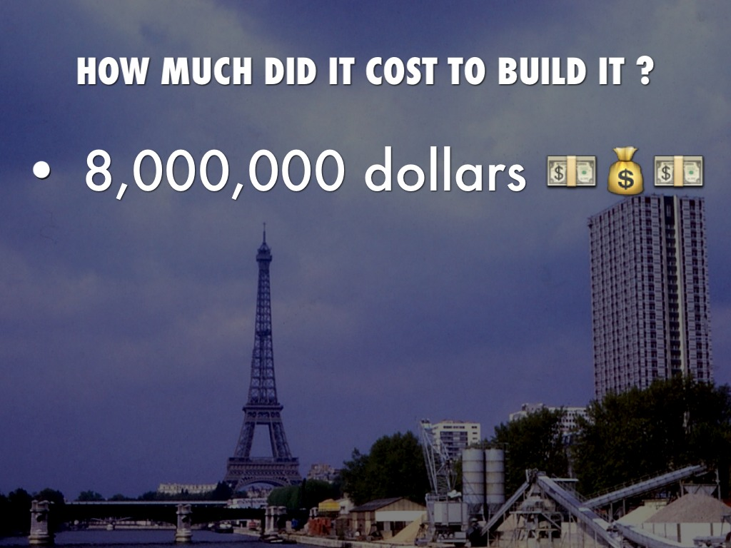 How Much Did It Cost To Build To Eiffel Tower