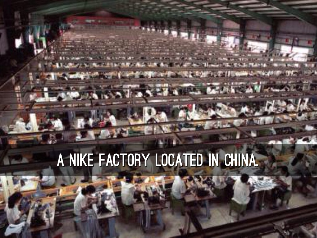 A nike factory located in China.