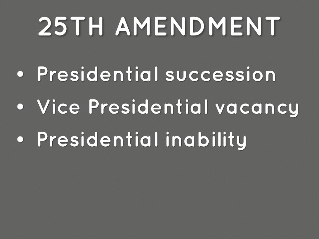Congress isnt the only institution that can remove a president from office between elections The 25th Amendment creates a different option