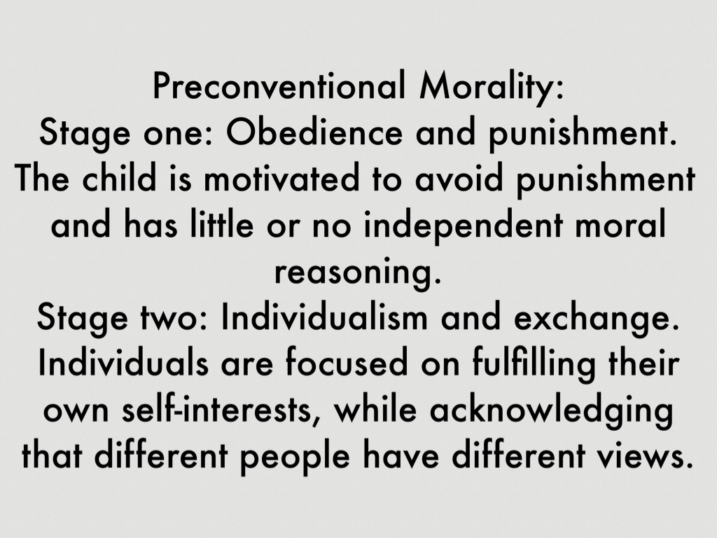 theories of morality in punishment essay The function of any punishment is to make the guilty suffer in that the severity of the punishment should be related to severity of wrong-doing (expiatory punishment) during this stage children consider rules as being absolute and unchanging, ie 'divine like.