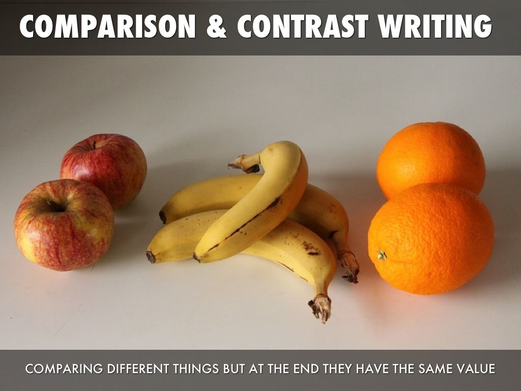 compare and contrast essay apples and oranges