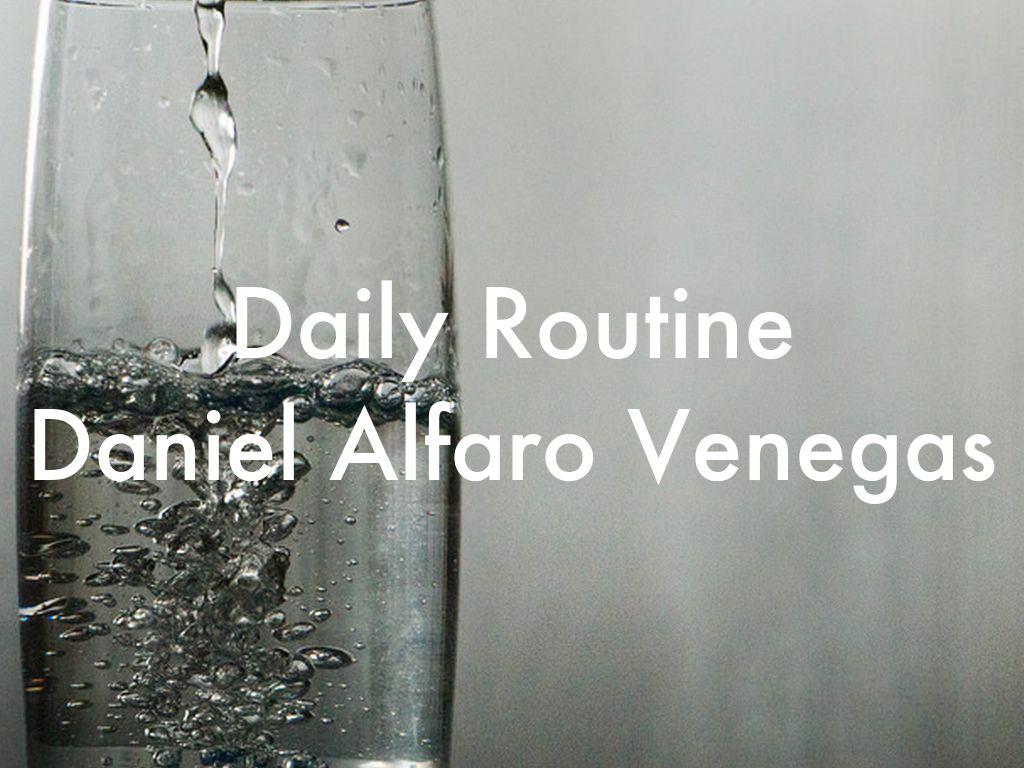 Daily Routine Daniel Alfaro Venegas
