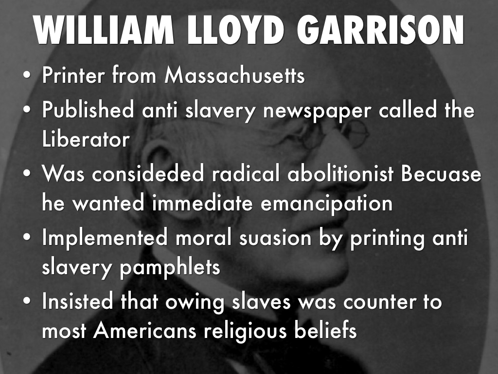 analysis of the anti slavery campaign by william lloyd garrison