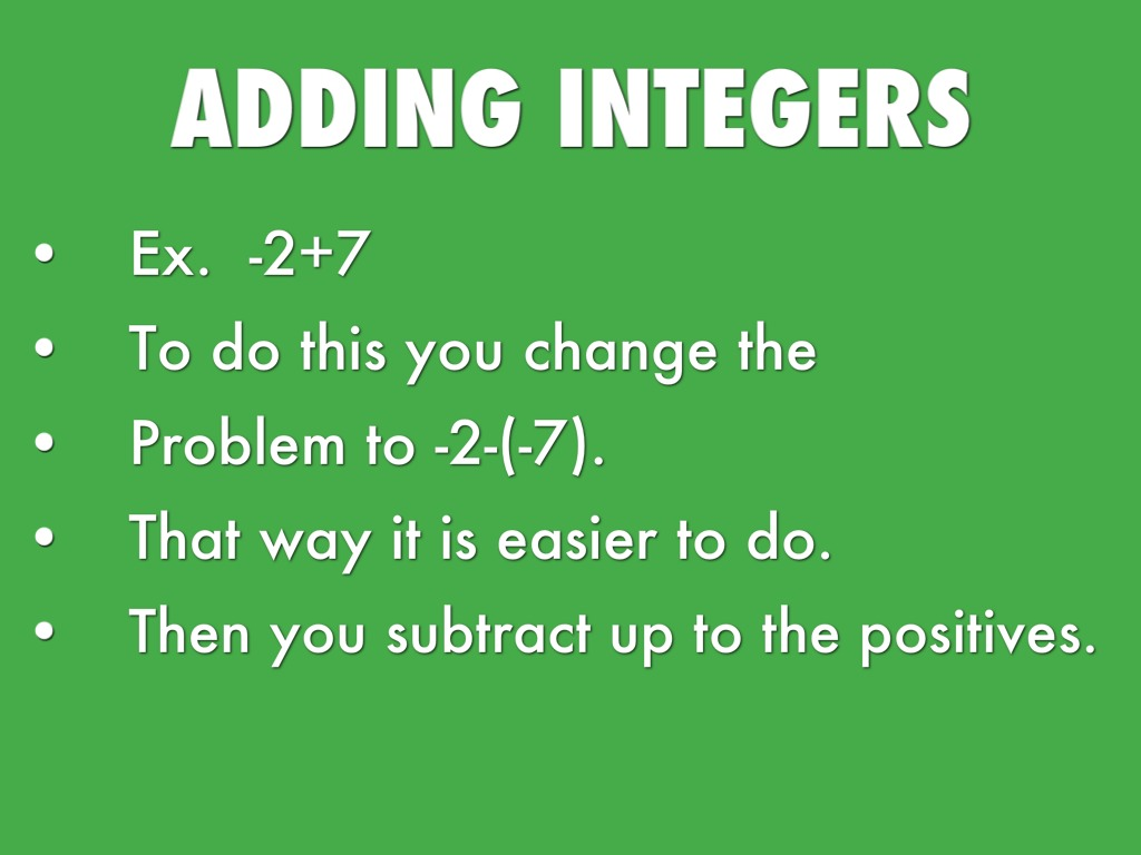 worksheet Adding Integers integers by jacob smith integers