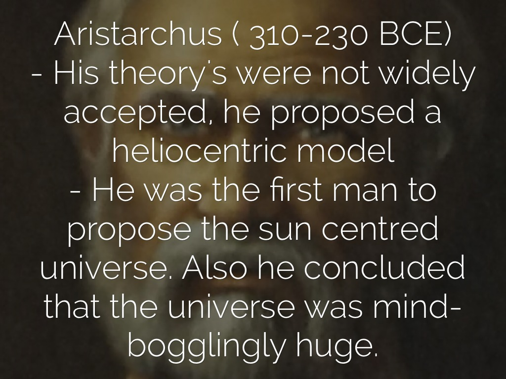 What was Aristarchus contribution to astronomy  Yahoo