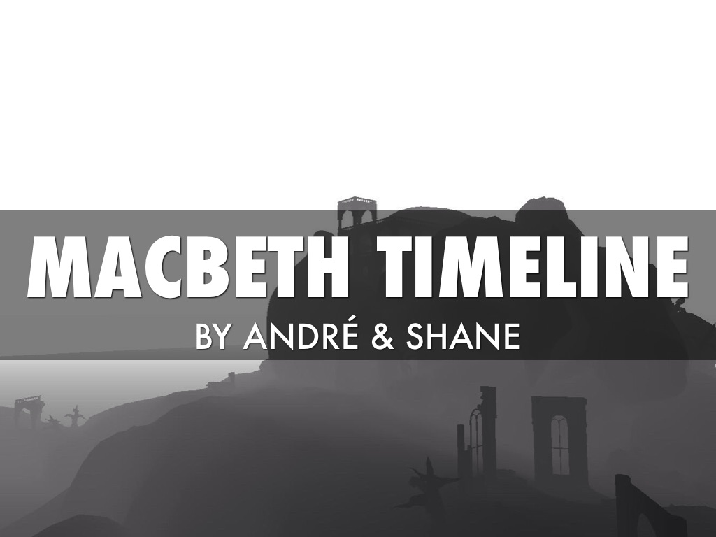 Macbeth Timeline- 3 quotes by Andre Bourlier