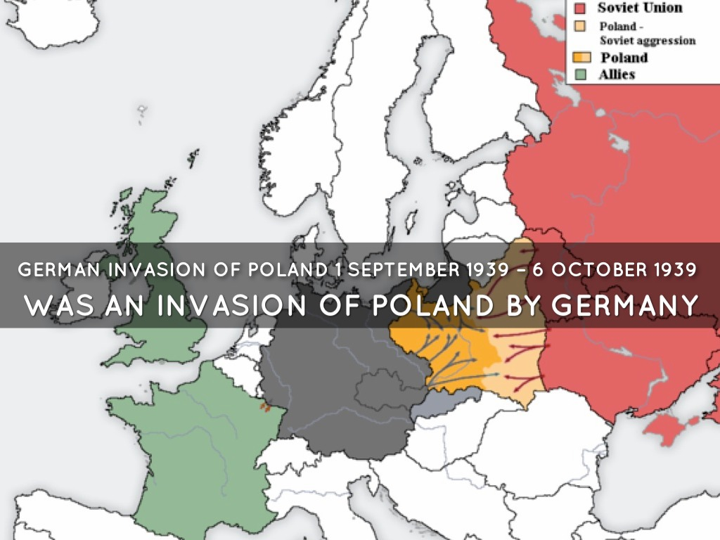 account of germanys invasion of poland On the first day of the invasion, there was still much confusion about the attack in the united states it was evident, however, that germany was deliberately attacking and that the nazi troops were invading the polish territory along the entire front of old germany.