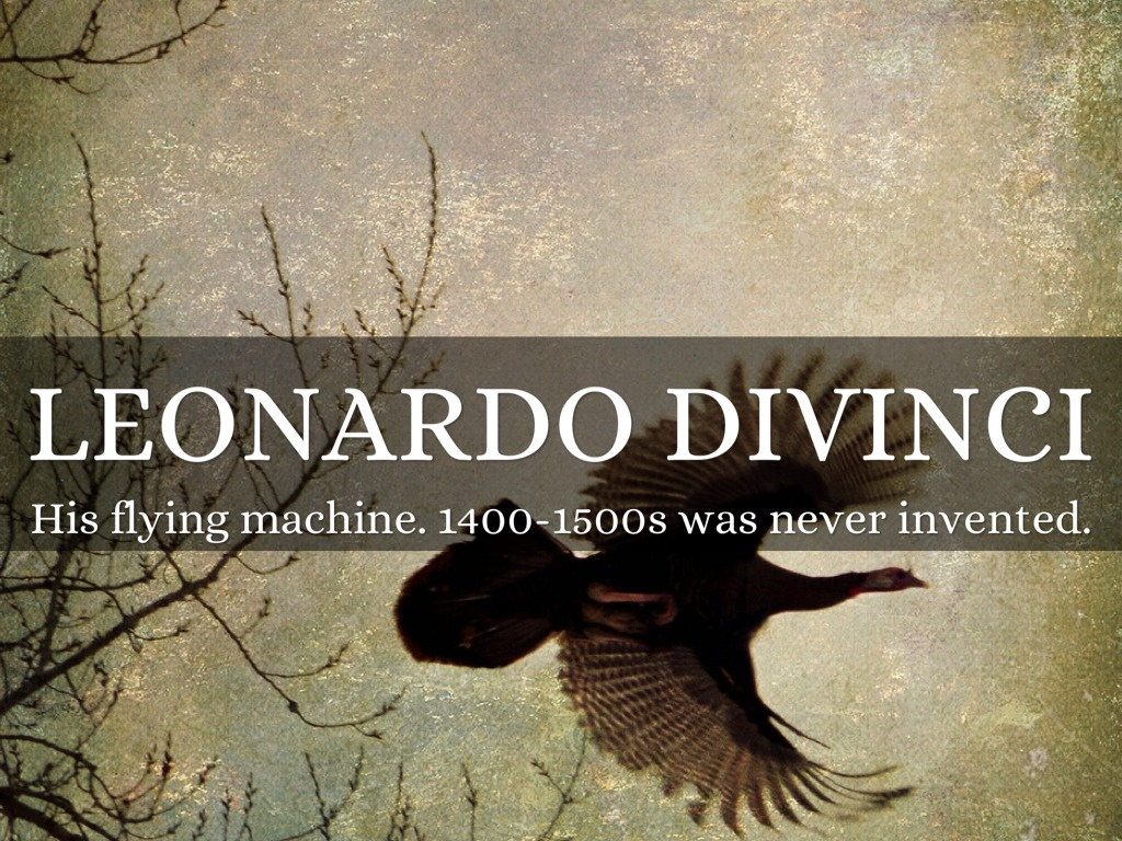 leonardo dreams of hid flying machine essay