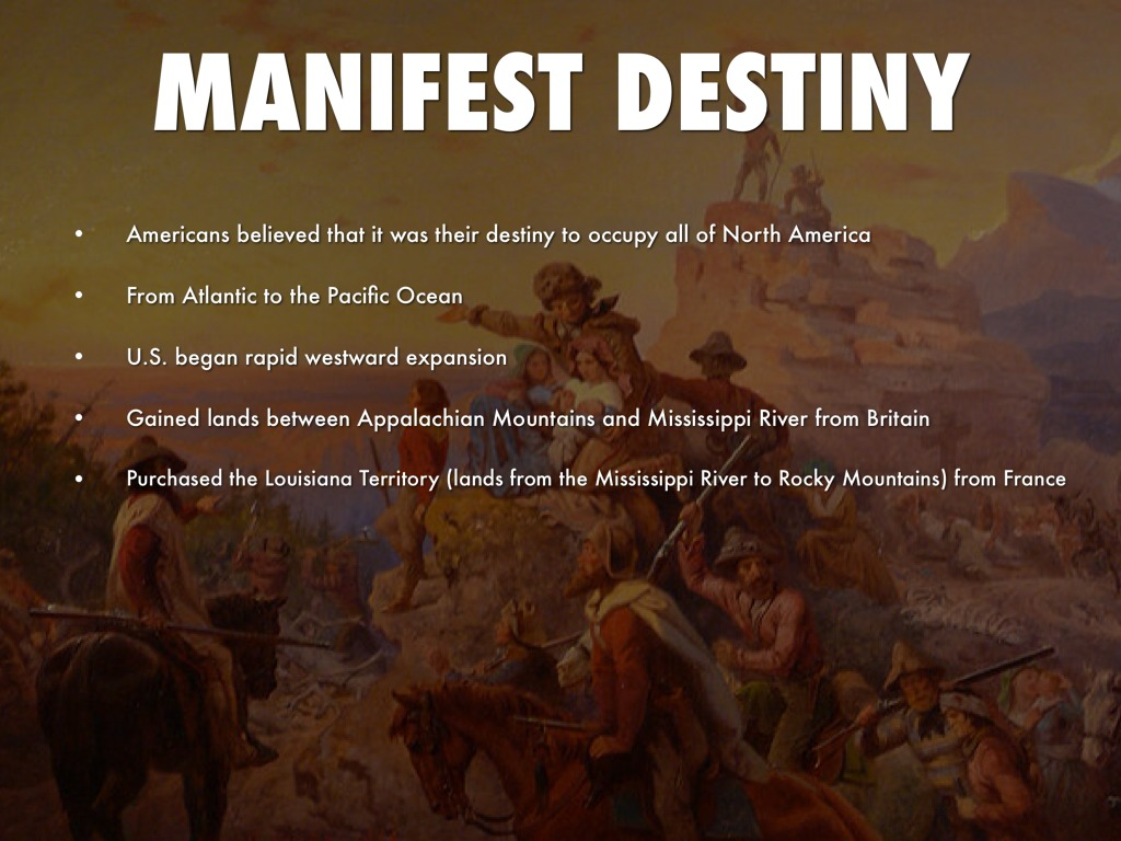 disadvantages of the manifest destiny Section 2: history of the united states manifest destiny : the disadvantages to a country acquiring more land are longer borders that need protection and.