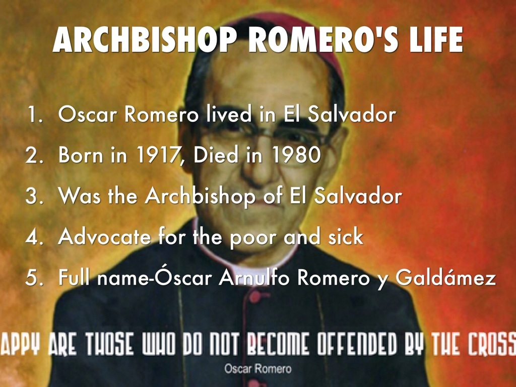 oscar romero archbishop el salvador Pope francis has cleared the way for archbishop oscar romero to be made a saint, declaring that the churchman murdered by el salvador's right-wing death squads.