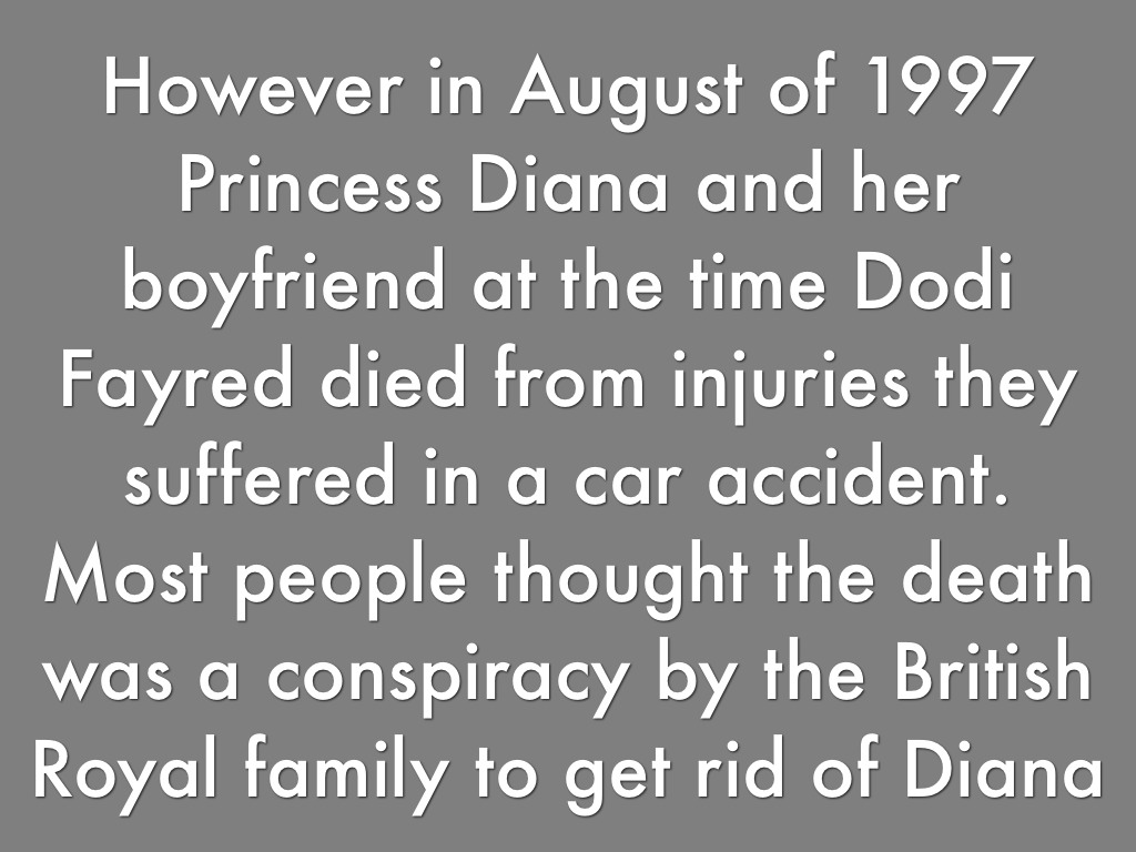 the conspiracy of princess diana A decade after her death in a paris road tunnel, conspiracy theories claiming princess diana was murdered continue to flourish.