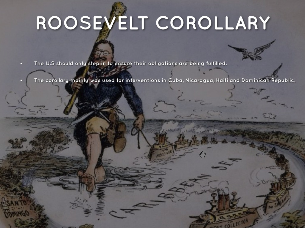 the roosevelt corollary essay Keeping the spirit alive the theodore roosevelt association is a historical and public service organization dedicated to perpetuating the memory and ideals of theodore roosevelt.