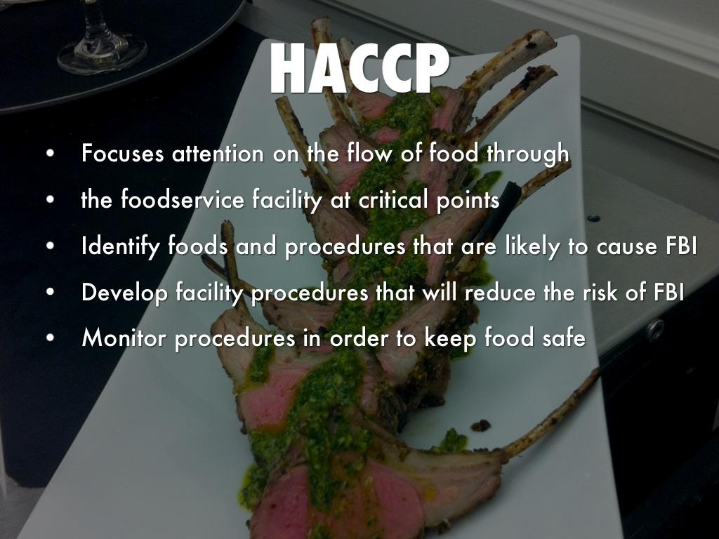 haccp application by patti etherington - Procedure Haccp Cuisine