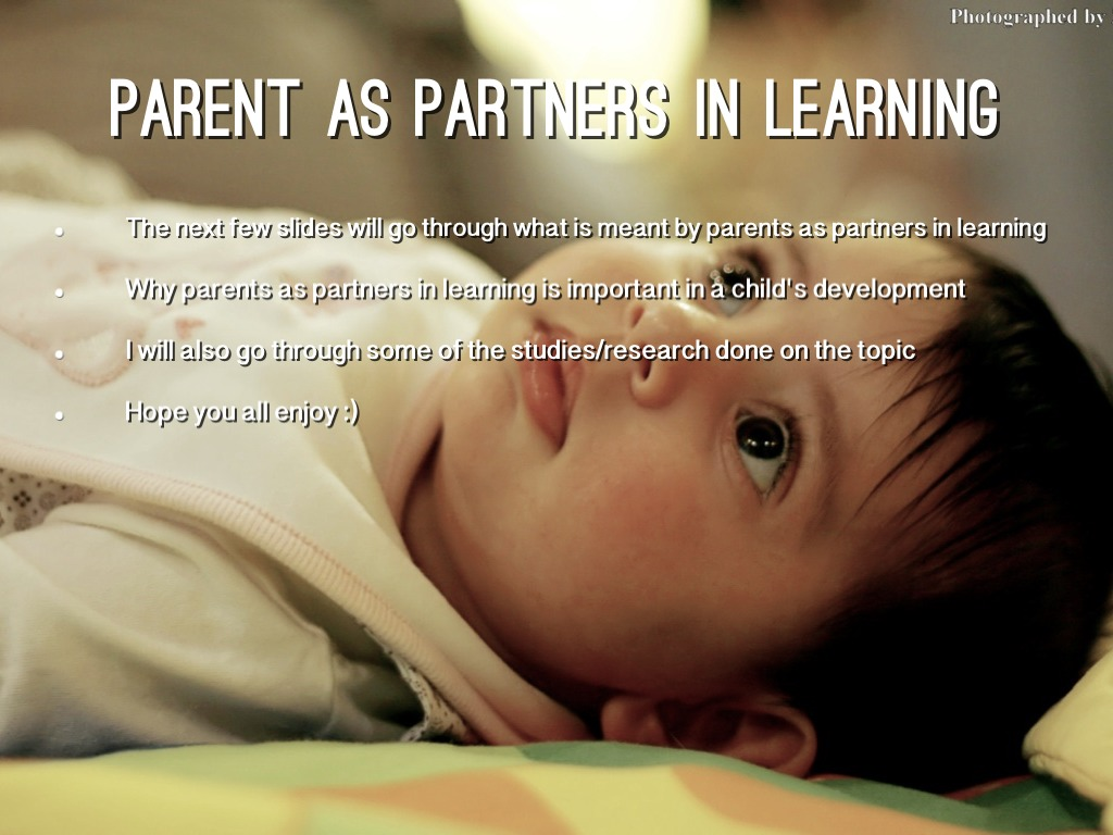Parents As Partners In Learning