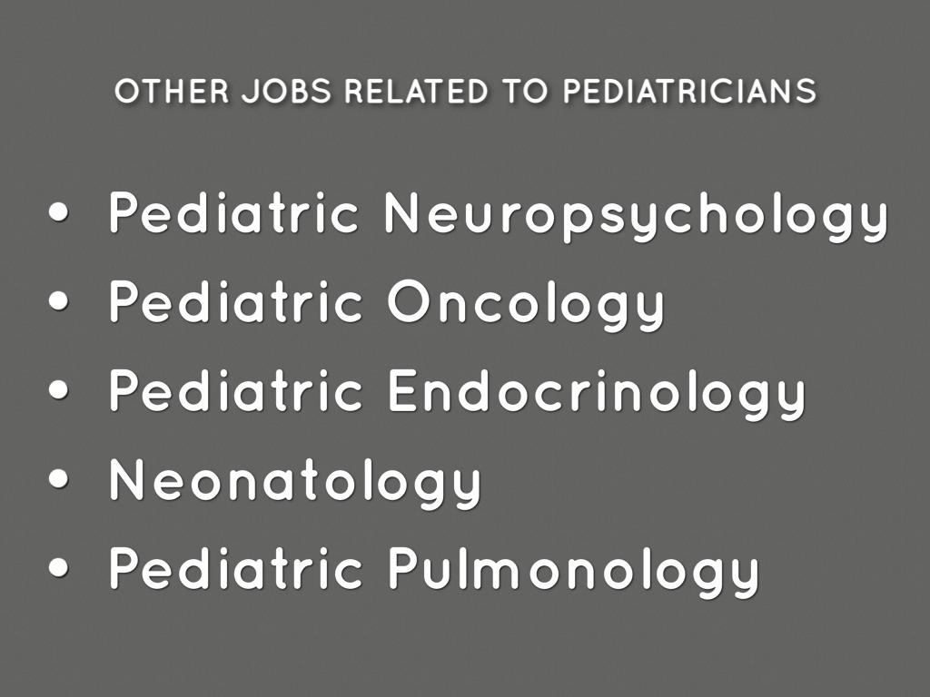 10 - Pediatrician Description