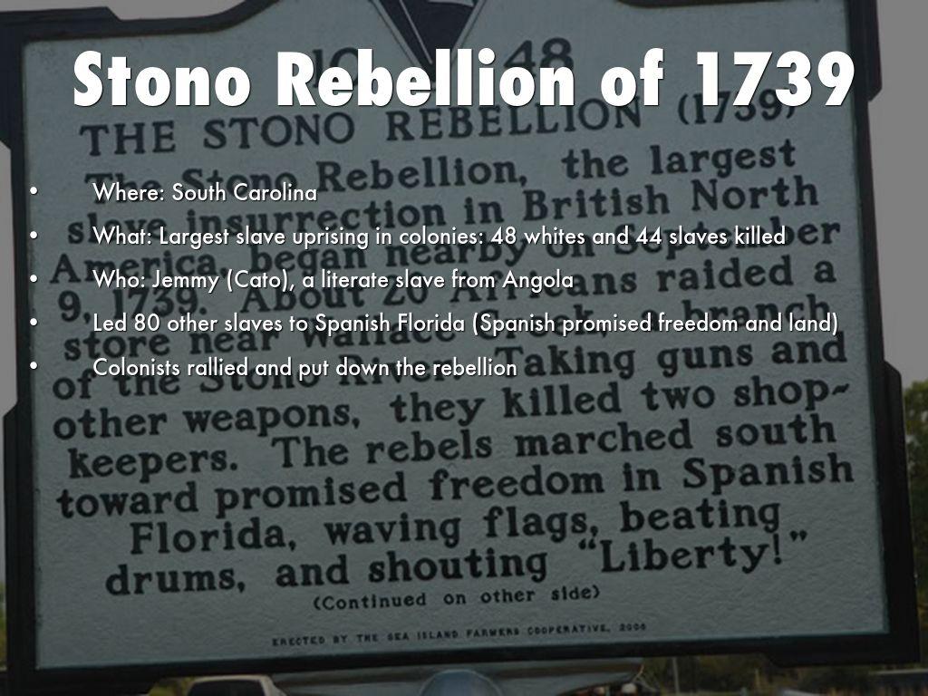 Stono rebellion jemmy