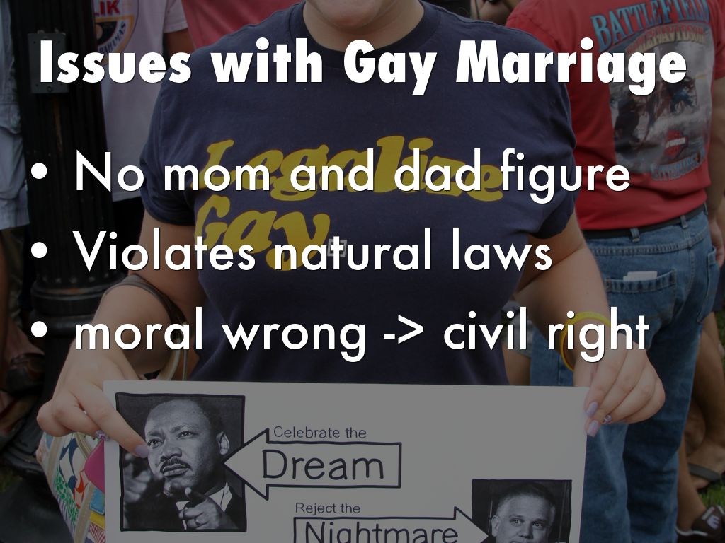 Issues with gay marriage