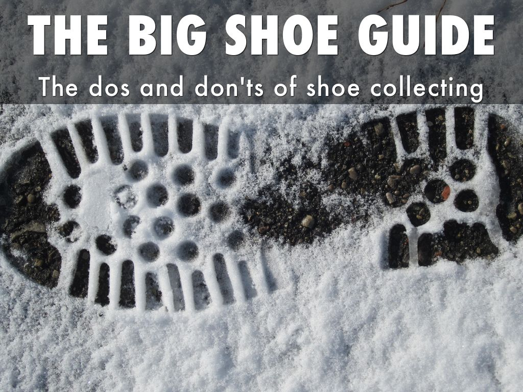 THE BIG SHOE GUIDE FOR NORTHERN FRANCE